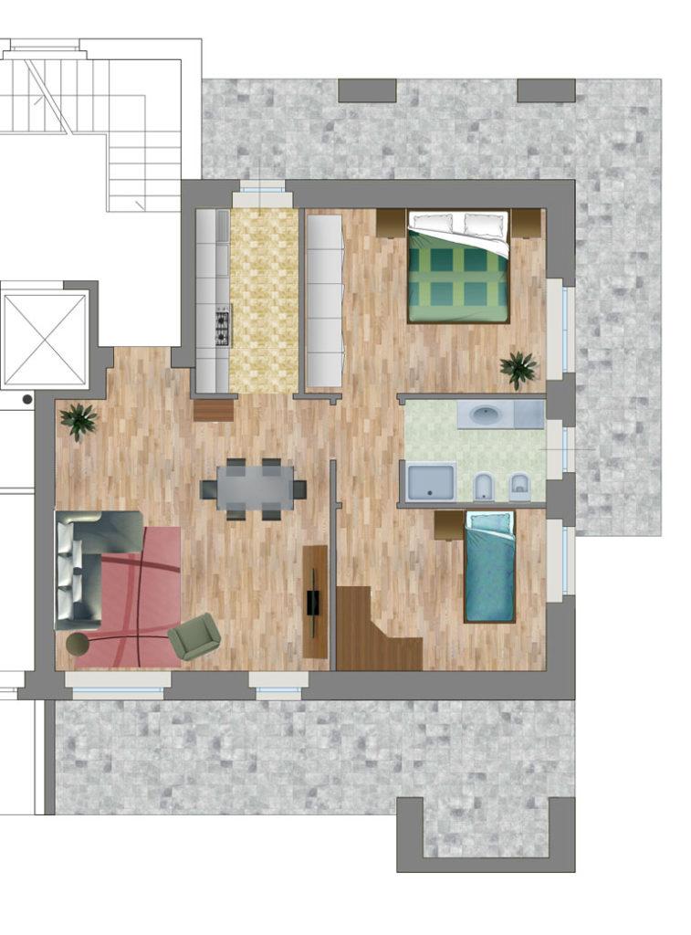 Appartamento 2 strada Casa Bianca
