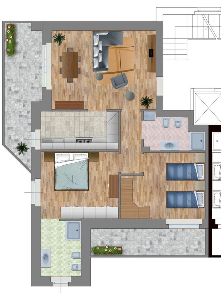 Appartamento 3 strada Casa Bianca